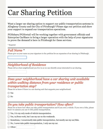 carsharepetition
